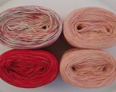 ROSE - Sport Weight Set (6ply) for the Criminal Knits MKAL --  Red Confetti - Red - Rose