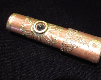 Copper Steampunk flash drive with brass trim, 16Gb USB 3..0