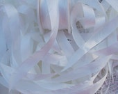 Pure Silk Ribbon 13mm 1/2 inch wide 10 yards Nat/Wht Color