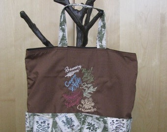 Herb Tote Bag Shopping Bag Diaper Bag