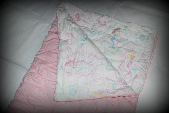 Pottery Barn Pink With Mermaids Sleeping Bag By