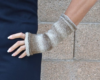 Arm warmers - fingerless gloves - graduated color gloves - womans gift - gift for her - Christmas