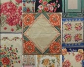 Vintage Hankies lot of 12 floral handkerchiefs with flowers