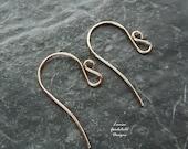 Handmade bronze fancy swan ear wires x 10 pairs MADE TO ORDER, handmade ear wires, swan ear wires, solid bronze