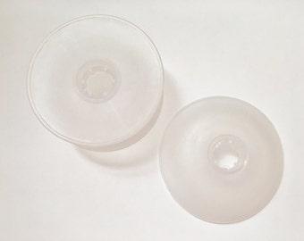 Bobbins, Clear (white) Large Bobbins, 3 Inch Plastic Bobbins, Sold Indiviually,