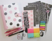 Brand New Kikki K Why Not Medium (Personal) Planner Accessories Kit in Pink and Black