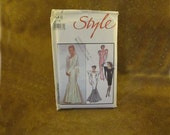 Uncut Misses Lined Wedding Dress or Evening Dress Pattern by Style - Size 14 - Original Printed Pattern #1148