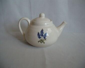 Teapot with Bluebonnets