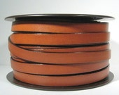10mm Flat Leather - Tobacco - 10F-34 - Choose Your Length