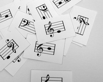 Treble & Bass Clef Sight Reading Flashcards