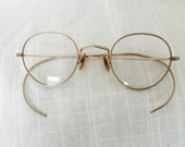 Antique Gold Round Eye Glasses