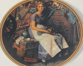 Vintage Collector Plate - Norman Rockwell - Dreaming in the Attic - Rockwell's Rediscovered Women Collection - Knowles - Fine China Plate
