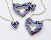 Grandmother, Mother, and Daughter Matching Necklace Set in Sapphire Blue