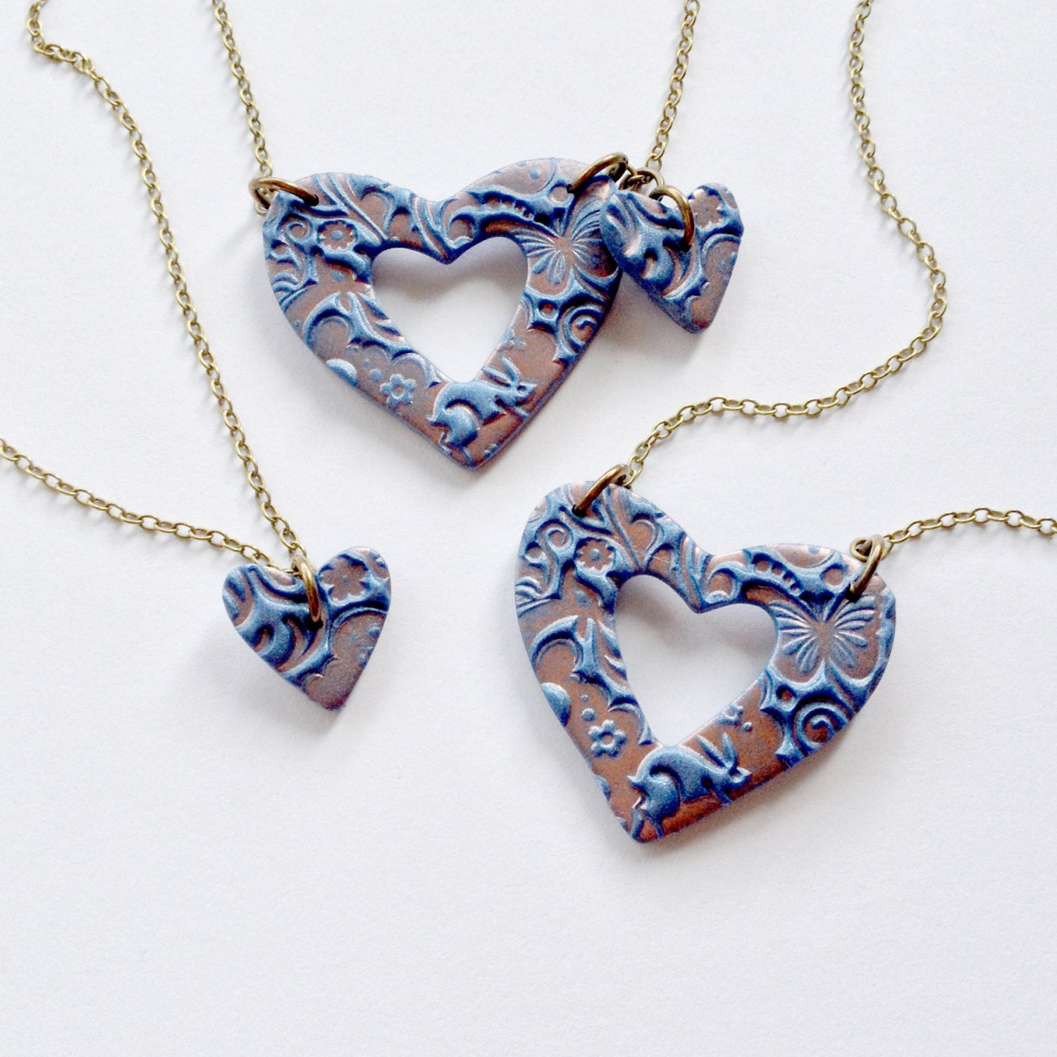 Grandmother Mother and Daughter Matching Necklace Set in