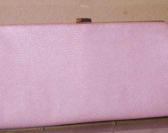 Vintage 1960s Pink Clutch Purse