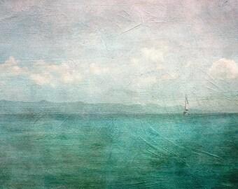 Abstract Landscape Print, Ocean Photography, Beach Decor, Tropical Beach Print, St John USVI, Turquoise Home Decor, Wall Art, 8x10, 11x14