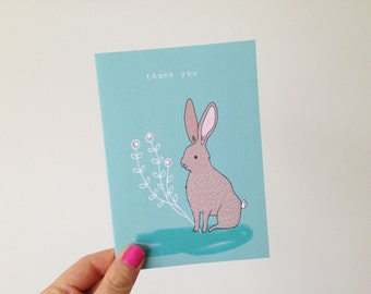 Hare - Thank You Card