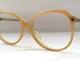 70s Vintage Austrian Silhouette Checker Ladies Womens Eyeglasses