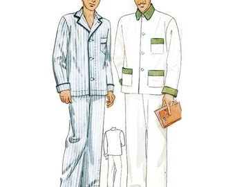 1930s Mens Pajama Pattern Simplicity Patterns 1617 Small Sz. 32 Chest 32