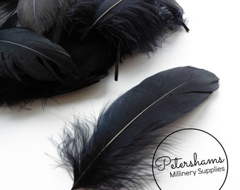 Loose Goose Nagorie Feathers for Millinery and Hat Trimming - Black