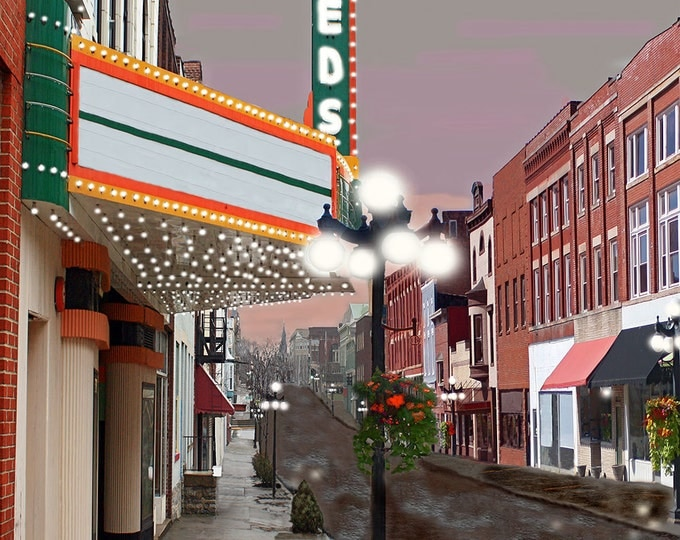 Kentucky, Leeds Theater Winchester Fine Art Print on Paper or Canvas Brenda Salyers