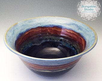 Unique Housewarming Gift, Large Ceramic Serving Bowl, Pottery Serving Bowl
