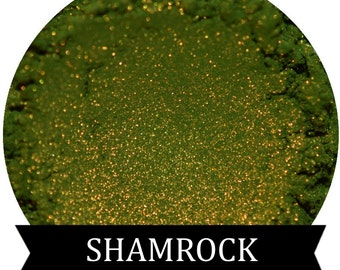 SHAMROCK Green Eyeshadow with Golden shimmer