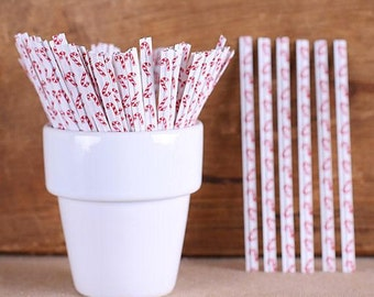 Candy Cane Twist Ties, Christmas Twist Ties, Candy Cane Paper Twist Ties, Cellophane Bag Ties, Holiday Party Favors, Candy Buffet Ties (100)