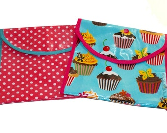 Reusable Snack Pouches- Set of 2