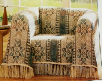 Vintage Aztec Earthy Cannon Furniture Throw New Never Used