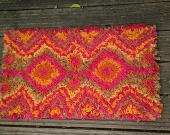 Rag Rug, rug,upcycled rug, wool rug,recycled  rug,floor rug,proddy rug,proggy rug,uk made