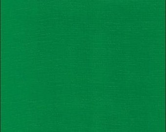Solid Green Oilcloth Fabric 12 yard Roll