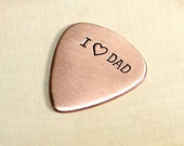 Copper guitar pick for dads and fathers day - BR837