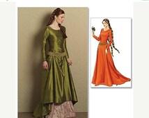 Historical Renaissance Dress Pattern--Great for Halloween--UNCUT Patterns-Multi Sizes-- Buyers Choice