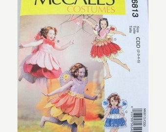 Girls Fairy  Costumes--UNCUT  Patterns -- Sz 2-5