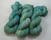Geillis - Sassenach Sock yarn hand dyed merino green
