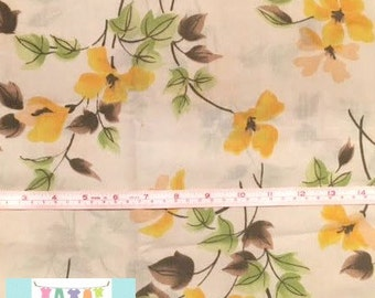 Vintage Yellow and Brown Floral Pillowcase