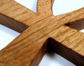 Ankh Cross / MID SIZE / Egyptian Symbol / Life / Butternut Hardwood