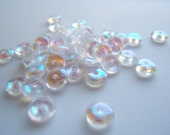 Sweet Crystal Clear AB Czech Glass Rondelles