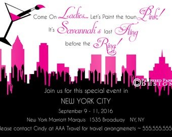 Ladies Night Out - Bachelorette Party - City Skyline