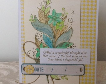 Encouragement Card, Inspirational Card,  FINAL CLEARANCE