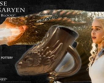 Bronze Dragon Beer/Coffee Mug - Game of Thrones - Daenerys Dragon-Targaryan House-unique fan art-cosplay accessory-Hand made-Fantasy Sci-fi