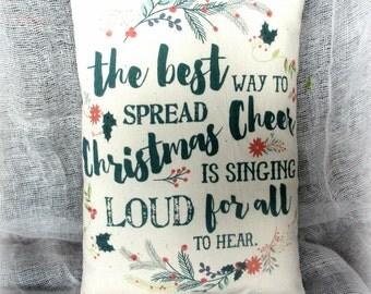 Christmas Pillow Tuck   Christmas Verse   Christmas Print   Holiday decor     Christmas decoration   Christmas Pillow   Pillow Tuck