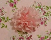 """Custom for CathyE - Cherry Blossoms Dog Scrunchie Collar with eyelet flower - S: 12"""" to 14"""" neck"""