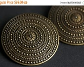 HALLOWEEN SALE Two (2) Norse Shoulder Brooches. Bronze Apron Pins. Bronze Viking Brooches. Concentric Rings Brooches. Historical Reenactment