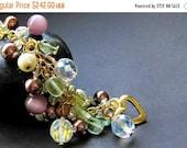 VALENTINE SALE Handmade Charm Bracelet - The Vineyard. Handmade Bracelet.