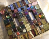 MOSAIC LIGHT SWITCH Plate Cover - Double, Multicolor, Wall Art