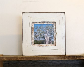 4x4 inch Handmade Square Photo / Picture Frame in 1.5-inch wide Reclaimed Cedar and in Color OF YOUR CHOICE - Upcycled Wood 4x4