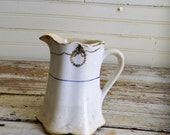 French Country Style Pitcher, French Style Creamer, S.P.I. Clinchfield China Pitcher, Small Creamer, Small Pitcher, Milk Pitcher