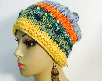 Knit Multi Colored Hat